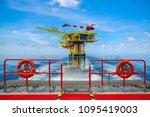 offshore construction platform... | Shutterstock . vector #1095419003