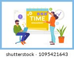 time management  planning and... | Shutterstock .eps vector #1095421643