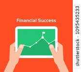 business charts like financial... | Shutterstock .eps vector #1095435233