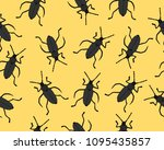 flat line vector seamless... | Shutterstock .eps vector #1095435857