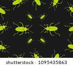 colored beetle. flat line... | Shutterstock .eps vector #1095435863
