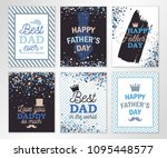happy fathers day greeting... | Shutterstock .eps vector #1095448577