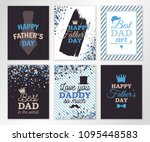 happy fathers day greeting... | Shutterstock .eps vector #1095448583