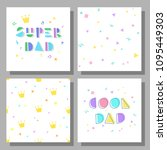 collection of postcards and... | Shutterstock .eps vector #1095449303
