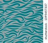 seamless wavy pattern. paper... | Shutterstock .eps vector #1095457337