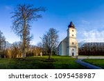 pilgrimage church  frohnberg ... | Shutterstock . vector #1095458987