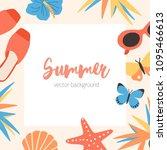 square summer background... | Shutterstock .eps vector #1095466613