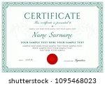 certificate  diploma of... | Shutterstock .eps vector #1095468023