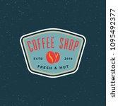 modern vintage coffee shop... | Shutterstock .eps vector #1095492377