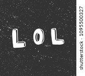 lol. sticker for social media... | Shutterstock .eps vector #1095500327