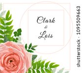 wedding invitation card. lovely ... | Shutterstock .eps vector #1095509663