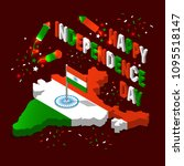 india isometric map in national ...   Shutterstock .eps vector #1095518147