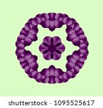 abstract symmetrical pattern in ...   Shutterstock . vector #1095525617
