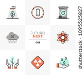 modern flat icons set of global ... | Shutterstock .eps vector #1095525827