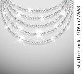 diamond sparkling beads... | Shutterstock .eps vector #1095527663