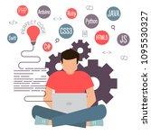 programming and coding banner ... | Shutterstock .eps vector #1095530327