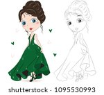 set of hand drawn beautiful... | Shutterstock .eps vector #1095530993