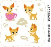set of little chihuahua. | Shutterstock .eps vector #109553267