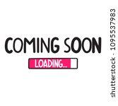 coming soon. vector hand drawn...   Shutterstock .eps vector #1095537983