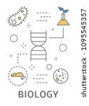 science areas set. biology in... | Shutterstock .eps vector #1095545357