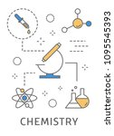 science areas set. chemistry in ... | Shutterstock .eps vector #1095545393