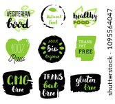 healthy food icons  labels.... | Shutterstock .eps vector #1095564047