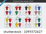 national team soccer jersey... | Shutterstock .eps vector #1095572627