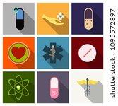 medicine  pharmacy  hospital... | Shutterstock .eps vector #1095572897