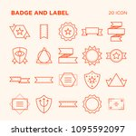 simple set of badge and label.... | Shutterstock .eps vector #1095592097