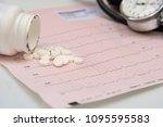 canister  pills  stethoscope...   Shutterstock . vector #1095595583