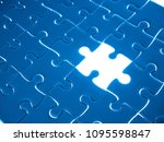 missing jigsaw puzzle piece... | Shutterstock . vector #1095598847