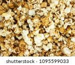 popcorn texture background. | Shutterstock . vector #1095599033