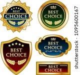 luxury best choice golden... | Shutterstock .eps vector #1095600167