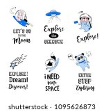 outer space concept... | Shutterstock .eps vector #1095626873