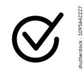 check icon vector | Shutterstock .eps vector #1095642227