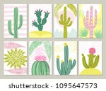 cards template with pictures of ... | Shutterstock .eps vector #1095647573