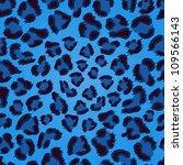 Seamless Blue Leopard Texture...