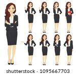 businesswoman character in... | Shutterstock .eps vector #1095667703