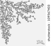 drawing branch with leaves... | Shutterstock .eps vector #109567403