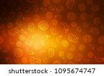 dark orange vector background...   Shutterstock .eps vector #1095674747