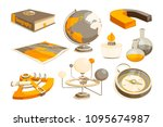 symbols of science and... | Shutterstock .eps vector #1095674987