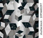marble luxury geometric...   Shutterstock .eps vector #1095683297