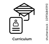 curriculum icon isolated on... | Shutterstock .eps vector #1095684593