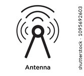 antenna icon isolated on white... | Shutterstock .eps vector #1095692603