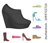 a variety of shoes cartoon...   Shutterstock .eps vector #1095722723