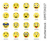 set of 16 simple editable icons ...   Shutterstock .eps vector #1095724217