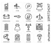 set of 16 simple editable icons ...   Shutterstock .eps vector #1095724247