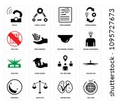 set of 16 simple editable icons ...   Shutterstock .eps vector #1095727673