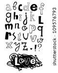 doodle cartoon font | Shutterstock .eps vector #109576793