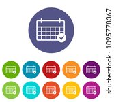 marking calendar icon. simple... | Shutterstock .eps vector #1095778367
